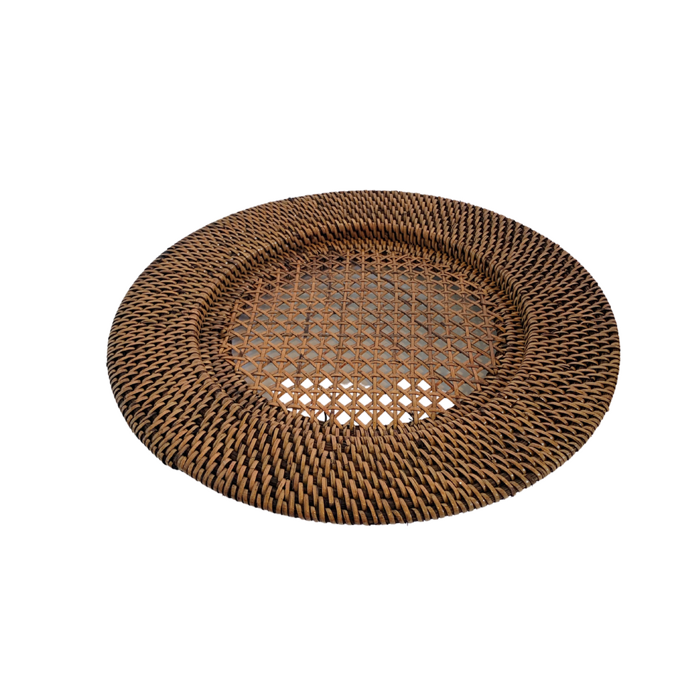 Plate Charger - Antiqued Rattan