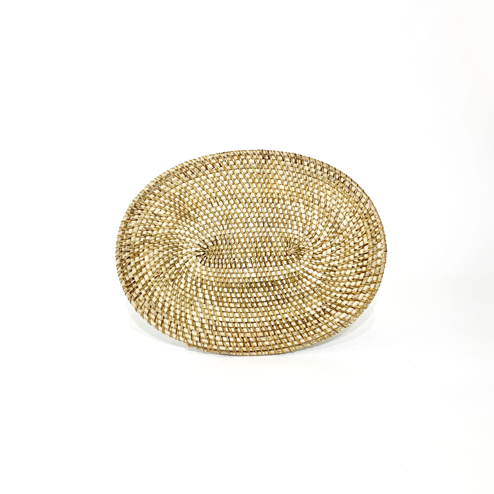 Placemats Oval - Natural Rattan