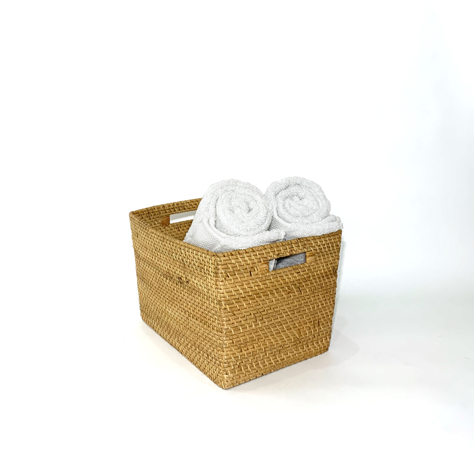 Storage Basket - Natural Rattan