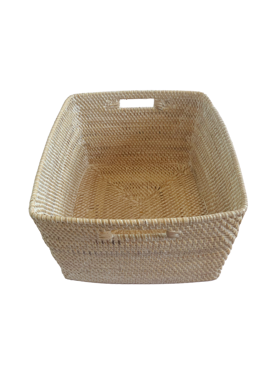 Storage Basket - Large - White Wash Rattan