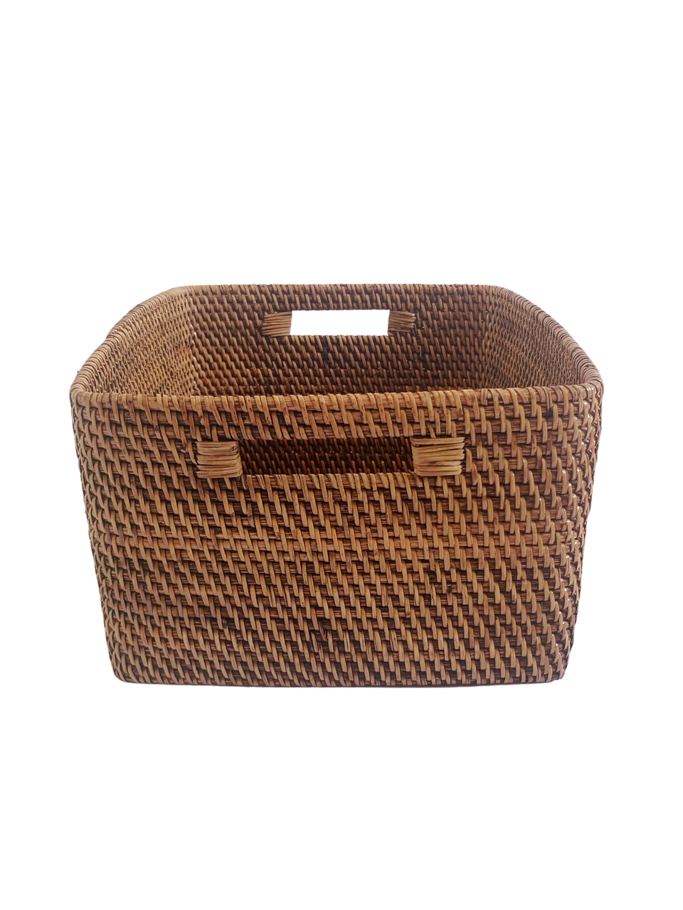 Storage Basket - Large - Antiqued Rattan