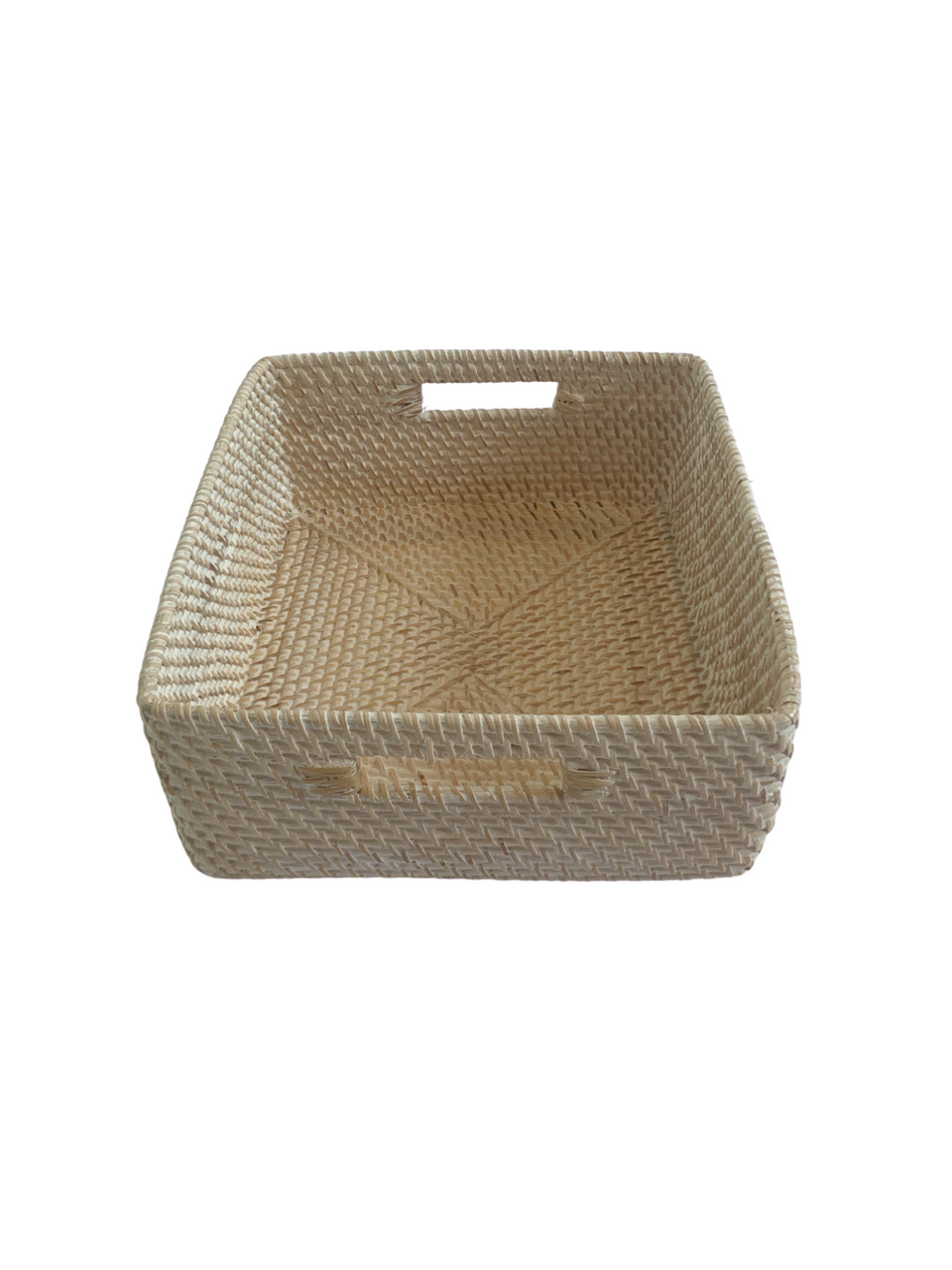 Storage Basket - Medium - White Wash Rattan