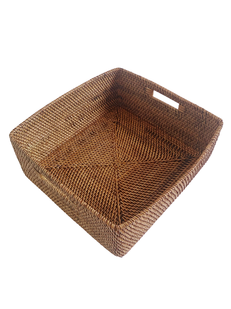 Storage Basket - Medium - Antiqued Rattan