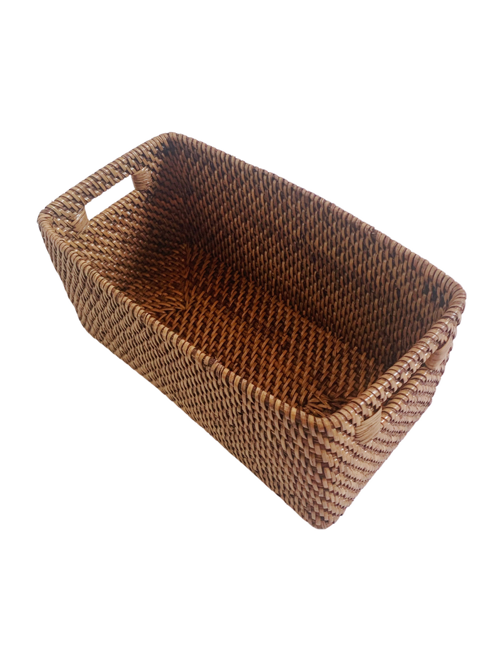 Storage Basket - Small - Antiqued Rattan