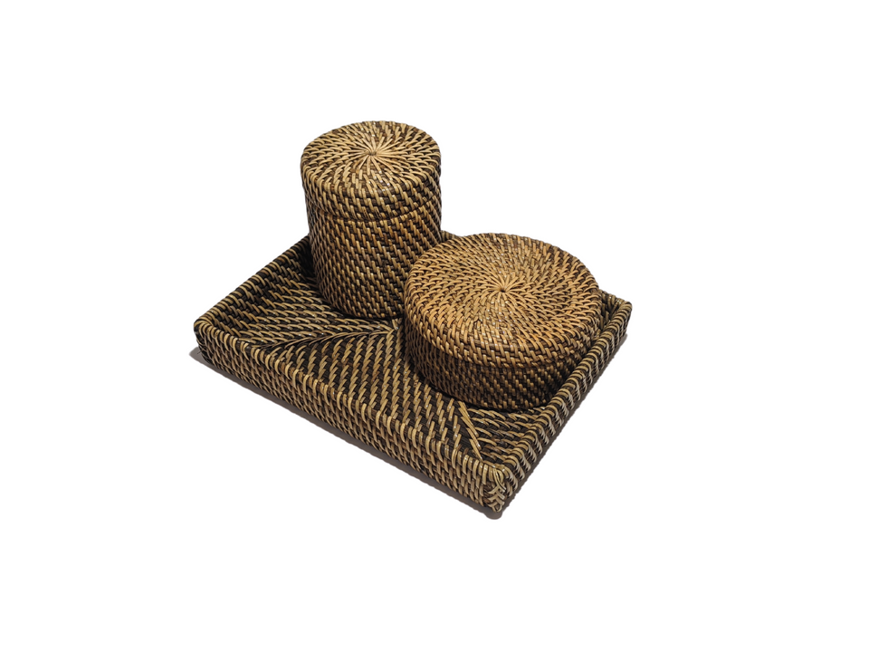 Bathroom Bundle - Antiqued Rattan
