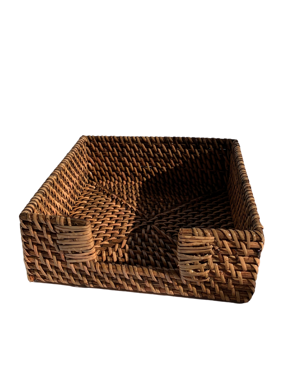 Serviette Holder - Antiqued Rattan