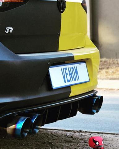 VW Golf 7R Diffuser Fin Set