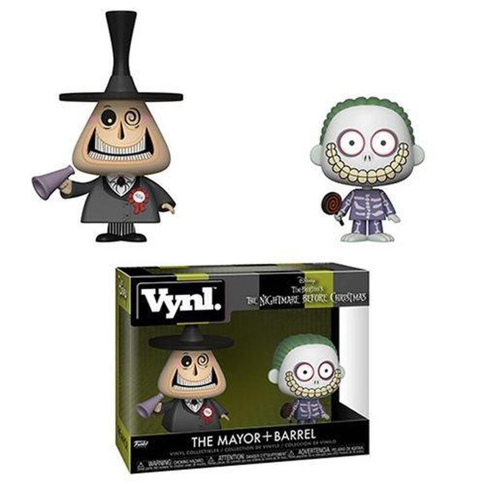 Funko POP Vynl: Nightmare Before Christmas Mayor and Barrel Vynl. Figure 2-Pack