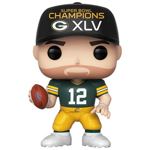 Funko Pop NFL Packers Aaron Rodgers (Super Bowl Champions XLV) Pop! Vinyl Figure