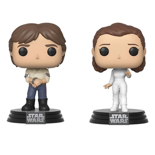 Funko Pop! Star Wars: Empire Strikes Back Han and Leia Pop! Vinyl Figure 2-Pack