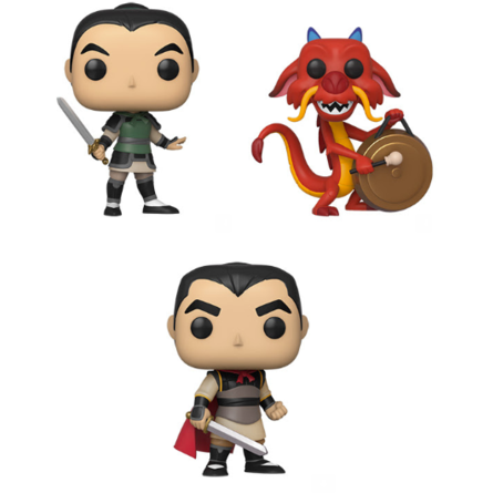 Funko Pop! Mulan Complete Set Of 3 Pop's! Vinyl Figure