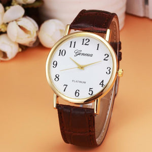 2019 Fashion Casual Faux Leather Mens Quartz Wristwatch
