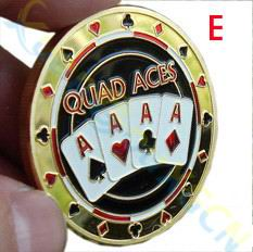 POKER KINGS & QUEENS! PREMIUM CARD GUARDS Crafted Metal Poker Chips