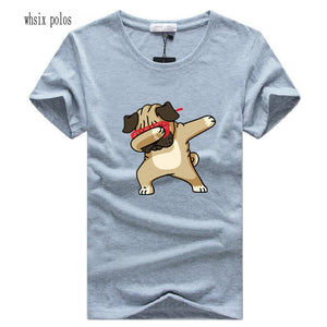 2019 NEW PUG DABBING Funny Hip Hop Shirt Summer Tees Harajuku Different Colors Available