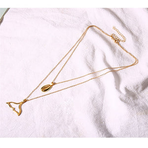 Multilayer Mermaid Tail Chain Necklace Two Layers Choker Necklace