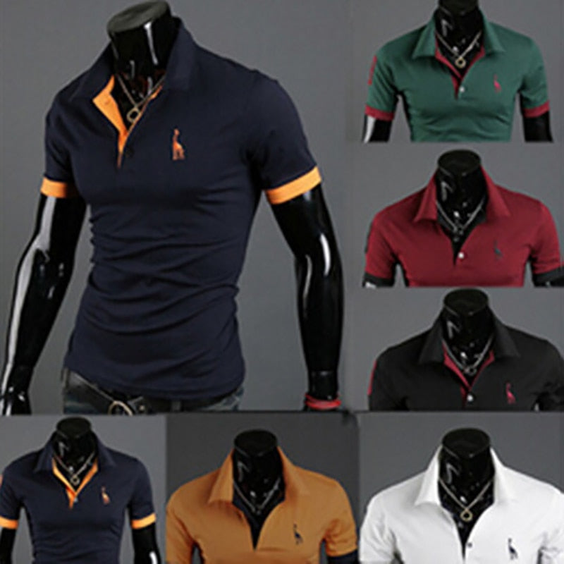2019 Male Short Sleeve Summer Polos 6 COLORS AVAILABLE!