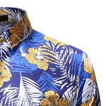 2019 New Spring &Autumn Shirts Fashion Trend Folk Men Ethnic Flowers Printed Casual Hawaiian Long Sleeves Dress Shirts