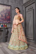 Load image into Gallery viewer, Newfangled Rust Pink Phantom Silk Heavy Embroidered & Hand Work With Admirable Lahenga Choli