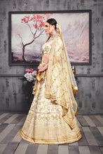Load image into Gallery viewer, Widespread Pearl White Phantom Silk Heavy Embroidered & Hand Work With Smarten Lahenga Choli