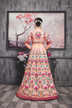 Load image into Gallery viewer, Segregate Hottest Meetha Pink Silk Heavy Embroidered & Hand Work With Peculiar Lahenga Choli