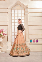 Load image into Gallery viewer, Awe-inspiring Salmon Peach Thai Silk Soft Embroidered Work With Admiration Lahenga Choli