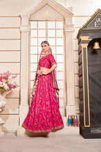 Load image into Gallery viewer, Statuesque Flossy Pink Phantom Silk Embroidered Work With Engaging Lahenga Choli
