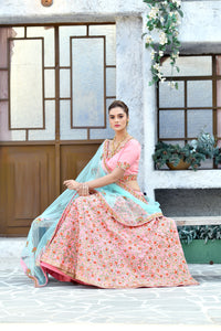 Melodramatic Magenta Pink Silk Embroidered Work With Impassioned Lahenga Choli
