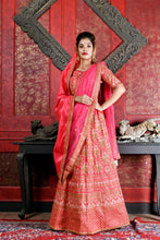 Load image into Gallery viewer, Passionate Dark Pink Silk Embroidered Work With  stylist Satisfaction Lahenga Choli