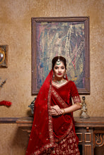 Load image into Gallery viewer, Marvelous Correct Maroon Velvet Embroidered Work With High-grade Lahenga Choli