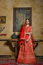 Load image into Gallery viewer, Paradigmatic Charming Red Silk Embroidered Work With Gorgeous Lahenga Choli