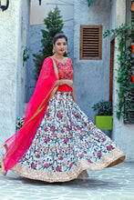 Load image into Gallery viewer, Symmetrical Fine Multi Color Silk Sequence Embroidered & Digital Print Work Nice Lahenga Choli