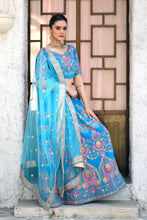 Load image into Gallery viewer, Statuesque Refined Sky Blue Velvet Sequence Embroidered Work With Pleasing Lehenga Choli