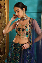 Load image into Gallery viewer, Thermogenic Multi Jacquard Silk Embroidered Sequence Work With Excellent Lahenga Choli