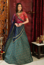 Load image into Gallery viewer, Metaphysical Multi Jacquard Silk Embroidered Sequence Work With Archetypal Lahenga Choli