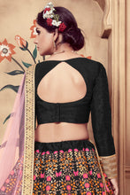 Load image into Gallery viewer, Scintillating Black Silk Cutdana & Sequences Hand Embroidered Work With Cuteness Lehenga Choli
