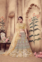 Load image into Gallery viewer, Resplendent Beige Silk Pearl Coding & Stone Embroidered Work With Shapely Lehenga Choli