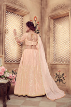 Load image into Gallery viewer, Virtuoso Peach Soft Organza Cutdana Pearl & Zari Embroidered Work With Hot Lahenga Choli