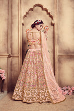 Load image into Gallery viewer, Magnificent Peach Silk Cutdana & Resham Embroidery Work With Delightful Lehenga Choli