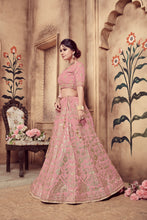 Load image into Gallery viewer, Pulchritudinous Pink Silk Pearl & Zari Embroidered Work With Delicate Lehenga Choli