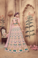 Load image into Gallery viewer, Marvelous Dusty Pink Silk Zari & Sequences Embroidered Work With Charming Lehenga Choli