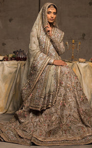 Pre-Eminent Inspired Cream Art Silk  Heavy Embroidery Work With Cheerful Lehenga Choli