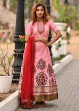 Load image into Gallery viewer, Irreplaceable Pink Faux Georgette Embroidered Round Gotta Patti Work With Long Anarkali Suit