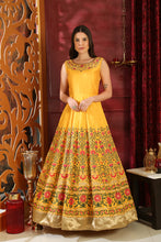 Load image into Gallery viewer, Love Relatively Yellow Silk Sequence & Cutdana Zardosi Hand Work With Sweetest Fairly Long Gown