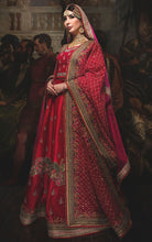 Load image into Gallery viewer, Gratifying Trendsetting Bridal Red Art Silk Heavy Embroidery Work With Jordan Lehenga Choli