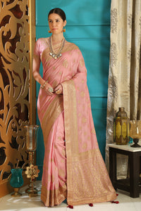 Lovely Cocktail Party Wear Silk Full Embroidered Hand Woven & Stone Work With Superb Saree