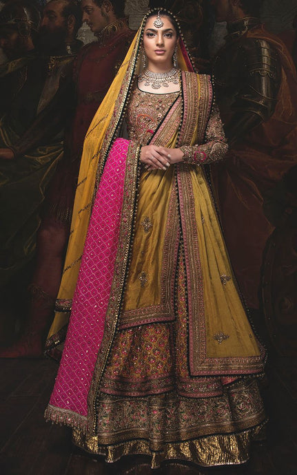 Paradise Together Lovable Jordan Yellow & Pink Art Silk Heavy Embroidery Work With Angelic Lehenga Choli