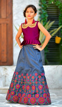 Load image into Gallery viewer, Prime Dynamite Deep Pink Silk Embroidered & Hand Work With Superb Kids Wear Lahenga Choli