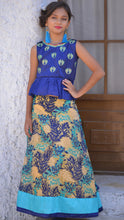 Load image into Gallery viewer, Staggering Blue Silk Embroidered Work With Exclusive Designer Kids Wear Lahenga Choli