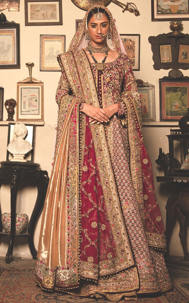 Satisfying Dainty Cream & Maroon Art Silk Heavy Embroidery Work With Wireless Lehenga Choli