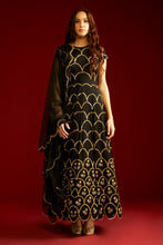 Load image into Gallery viewer, Breathtaking Snazzy Black Satin Creap Cutdaana Butta Embroidery Work With Pretty Anarkali Suit